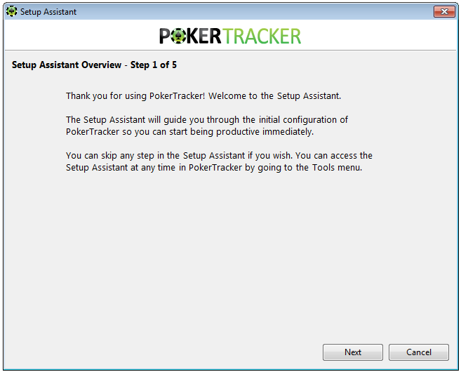 Poker Tracker 4 Setup Assistant
