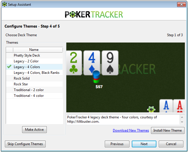 PokerTracker 4 Themes