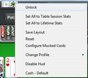 PokerTracker 4 HUD Options