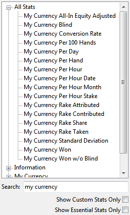 my currency statistics