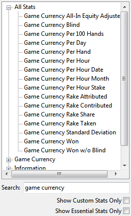 game currency statistics