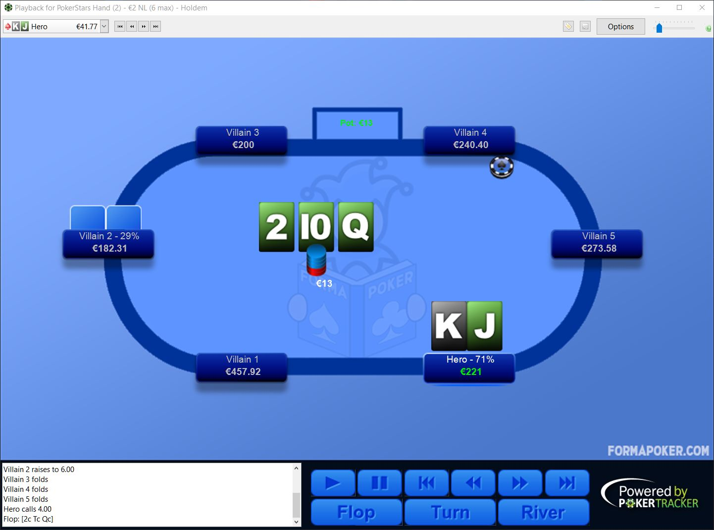 Preview of FormaPoker Light Replayer