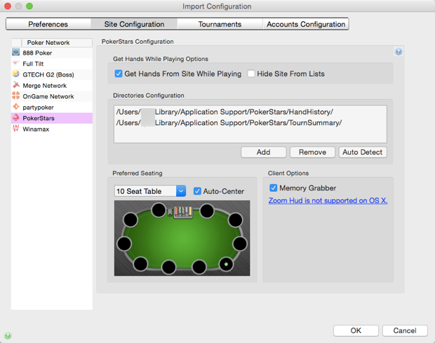 PokerStars Import Configuration