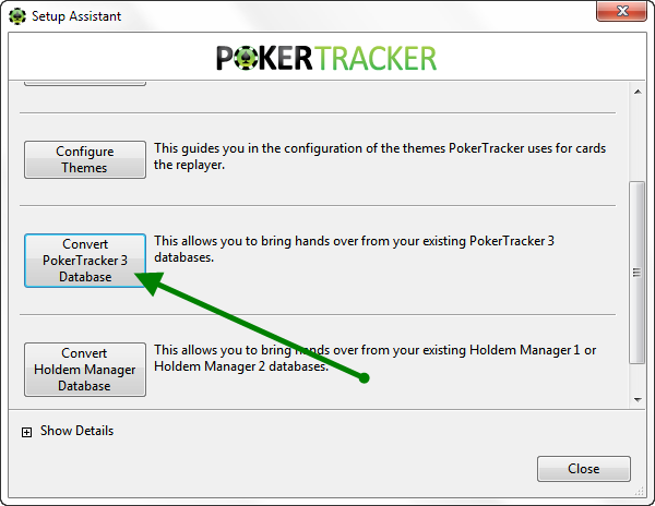 Convert A PokerTracker 3 DB Into PT4
