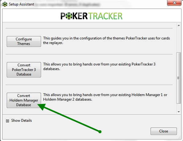 Convert A Holdem Manger DB Into PokerTracker 4