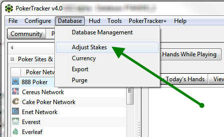 Adjusting Stakes In PokerTracker 4