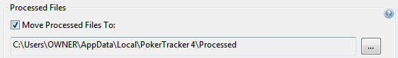 Processed Files In PT4